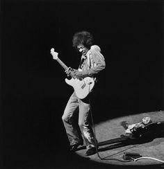 Jimi Hendrix @ Olympia Paris, France,1967 by Dominique Tarlé