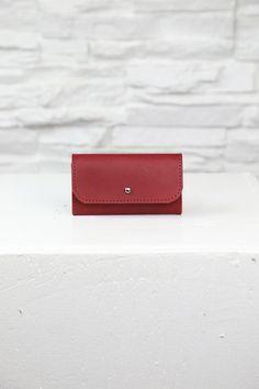 Red Pouchette - Handmade in Minnesota - Danielle Sakry