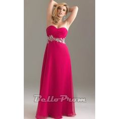Beaded Strapless Chiffon Plus Size Gown A1475  Price: $159.00  Buy now enjoy -10% Discount.