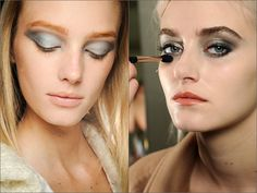 Металлик в макияже и маникюре |Осень-зима 2016-17 на Fashion-fashion.ru