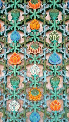 금산사 꽃창살 Motif Design, Design Elements, Pattern Design, Korean Crafts, Korean Painting, Book Sculpture, Mandala Drawing, China Art, Korean Art