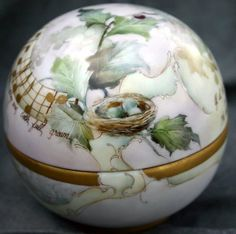 Celee Evans~Porcelain~Holiday Truffle Box