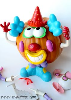 Use a fake pumpkin and pieces from Mr. and Mrs. Potatohead to create this fun activity for your little ones! Speech therapy and fine motor practice.