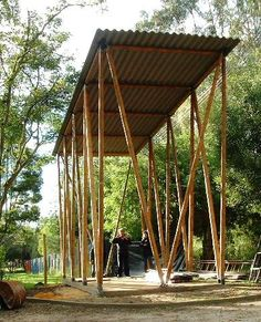 45 Affordable Pergola Use All Bamboo Material 10 Pergola Cost, Outdoor Pergola, Backyard Pergola, Pergola Canopy, Pergola Plans, Bamboo Structure, Tree Structure, Shade Structure, Bamboo Architecture