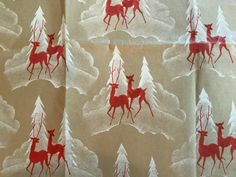Brown Christmas Wrapping Paper, Vintage Wrapping Paper, Gift Wrapping Paper, Christmas Store, Christmas And New Year, Vintage Christmas, Christmas Cards, White Trees, Snowman Tree