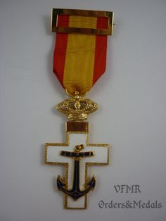 Spain - Order of Naval Merit, Cross white (special services) (post 1975)
