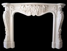 This amazing double sided Fireplace is an unquestionably inspirational and great idea Marble Fireplace Surround, Stone Fireplace Mantel, White Fireplace, Farmhouse Fireplace, Marble Fireplaces, Fireplace Surrounds, Fireplace Design, Carrara, Moulding And Millwork