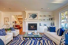 Off center fireplace ideas