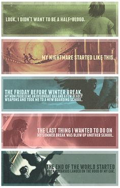 1st Sentence of each book of the Percy Jackson & the Olympians Series