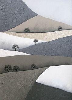 Patchwork Hills 4, by Natasha Newton, 2013. Acrylic on deep-edge canvas
