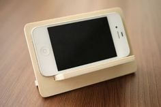 Wooden Cell Phone Stand, Smart Phone Holder, Birch Plywood Mobile Phone Holder
