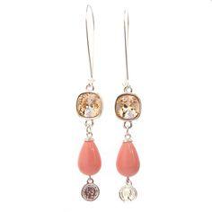 Handgemaakte lange oorbellen , oorbellen edelsteen, oorbellen Swarovski, Jewels with Flair