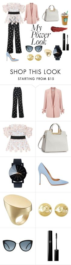 """Power Work Look"" by florencia08 on Polyvore featuring moda, Monse, Miss Selfridge, self-portrait, Gianvito Rossi, Maison Margiela, Chanel y By Terry"