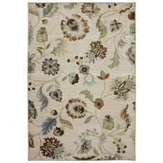 You'll love the Serenity Butter Pecan Floral Rug at Wayfair - Great Deals on all Rugs products with Free Shipping on most stuff, even the big stuff.