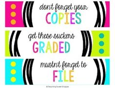 OPERATION ORGANIZATION:  FREE Copy, Grade, and File Labels!