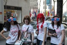 The Optifog team outside of Rockefeller Center in New York