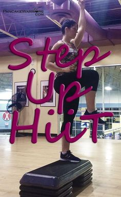 Step Up HIIT Workout - this fat blasting 15 minute workout will have your legs shaking! | www.PancakeWarriors.com