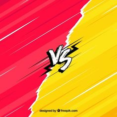 Versus background with hand drawn style Free Vector Youtube Banner Backgrounds, Youtube Banners, Applis Photo, Photo Logo, Graphic Wallpaper, Colorful Wallpaper, Thumbnail Background, Illustration Pop Art, Comic Book Layout