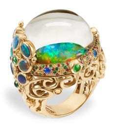 Temple St. Clair's Golden Menagerie trilogy. Mythical Creatures collection, Medusa Moon Jellyfish Ring.