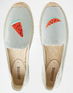 Soludos | Soludos Watermelon Slices Espadrille Flat Shoes at ASOS