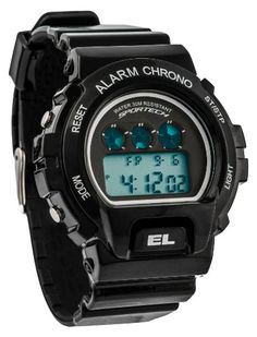4b24b392614b Sportech Mens Shock Resistant Black Racer Digital Sport Watch SP10401    Learn more by visiting the image link.Note It is affiliate link to Amazon.