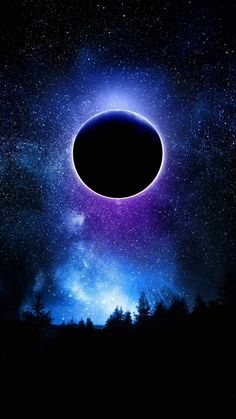 Eclipse In Space IPhone Wallpaper - IPhone Wallpapers