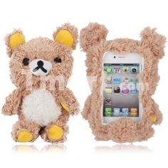 Plush Toy Doll Style Protective Back Case for iPhone 4/4S Cute Bear Brown,$8.98