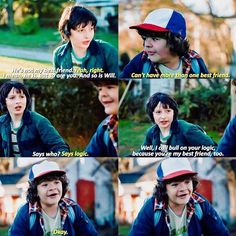 """You're my best friend, too"" - Mike and Dustin #StrangerThings"