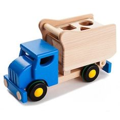 Shape and Sort Dump Truck  @ acorntoyshop.com