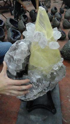 Giant Calcite with Quartz specimen? No real source...
