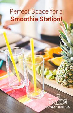 Our kitchen is perfect for making smoothies and cocktails!
