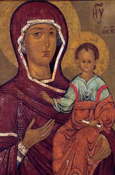 """[RUSSIA.GOLDENRING 26.111]  'Our Lady of Smolensk.'    The icon """"Our Lady of Smolensk"""" (1530) can be found in the Church of Tsarevich Dimitri """"on the Blood"""" in the little Volga town of Uglich. Photo Mick Palarczyk."""