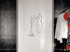 Beautiful Wall Tiles For Black And White Bathroom – York by NovaBell   DigsDigs
