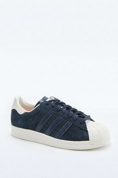 size 40 492ff 454a4 adidas Originals Navy Suede Superstar Trainers