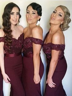 Buy Off-shoulder Mermaid Lace top Bridesmaid dress with Court Train Bridesmaid Dresses under US$ 119.99 only in SimpleDress.