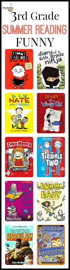 3rd Grade Summer Reading List (age 8 - 9) by imaginationsoup #Books #Kids #3rd_Grade
