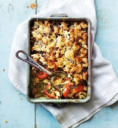 The taste of courgettes and tomatoes shines through in this crispy gratin recipe. Serve with a simple salad for the perfect summer supper.