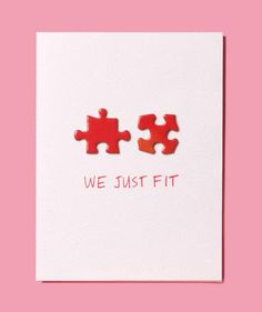 Puzzle Pieces as Valentine's Day Card | Get creative with common household items that do double-duty.