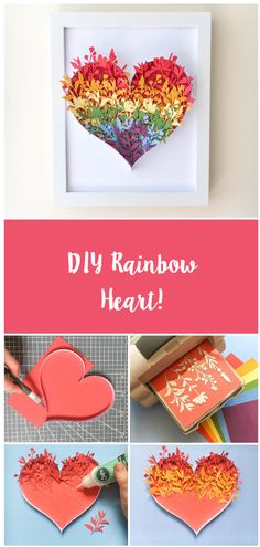 We know everyone is staying at home and are loving the community rainbows! 🌈😍 We love this take on the rainbow as a framed home decor! Click the link for how to make! Hobbies And Crafts, Crafts To Make, Crafts For Kids, Diy Crafts, Rainbow Crafts, Rainbow Art, Craft Tutorials, Craft Projects, Projects To Try