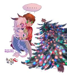 Under the Christmas lights🎄💖🌟 .❤️💚❤️💚✨✨I'm late bc I can't help to draw the lil comic😔btw in my head it's Ezran's… Prince Dragon, Dragon Princess, Anime Couples Manga, Cute Anime Couples, Cute Wallpaper Backgrounds, Cute Wallpapers, Fanart, Rayla X Callum, Christmas Lights Wallpaper
