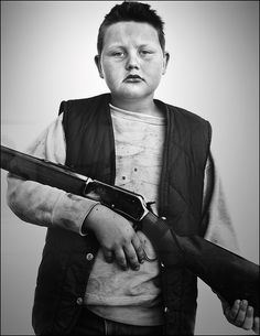Richard Avedon (in the american west) B.J. Van Fleet, aged 9, Ennis, MT July, 1982