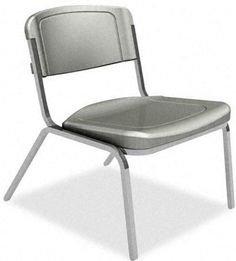Iceberg 64027 - Rough ''N'' Ready 350 lb. Capacity Big & Tall Stack Chair - Charcoal (4-Pack) Sale Price: $459.00