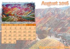 August is like the Sunday of summer, but it can still bring some good vibes. Get started with http://photo-calendar-software.com/download.php and create your own calendar design! #MonthlyCalendar #AugustCalendar
