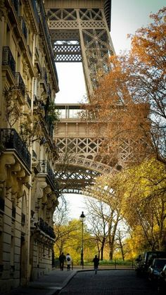 We know exactly where this is - we took a similar picture! Right off the metro in this neighborhood in Paris is the Tour Eiffel. A very cool way to get there!