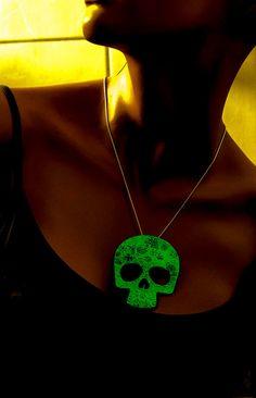 Halloween Glow in the Dark necklace Sugar by UptownGirlFashion