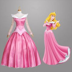 Movie Sleeping Beauty Princess Aurora Gorgeous Dress Cosplay Costume Custom/S-XL
