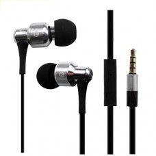 Awei ES500i Heavy Metal Wired In-ear Headphones Earphones Headset (Silver)