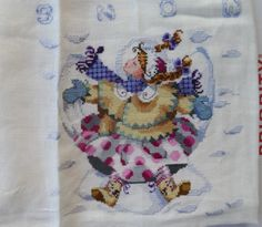 2 Completed Cross Stitch Giggles in The Snow by Mirabilia Needs Beads | eBay