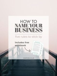 How To Name Your Business: 5 Rules To Stick By   Coming up with a business name is hard work. This guide is perfect for creative entrepreneurs, bloggers and small business owners who are starting a business or planning a rebrand! Click through to find out