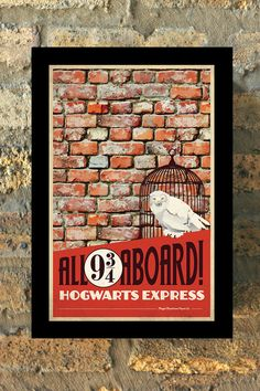 HARRY POTTER Set of 3 Travel Poster Vintage Print от MMPaperCo